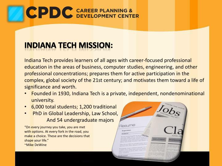 Indiana Tech Mission