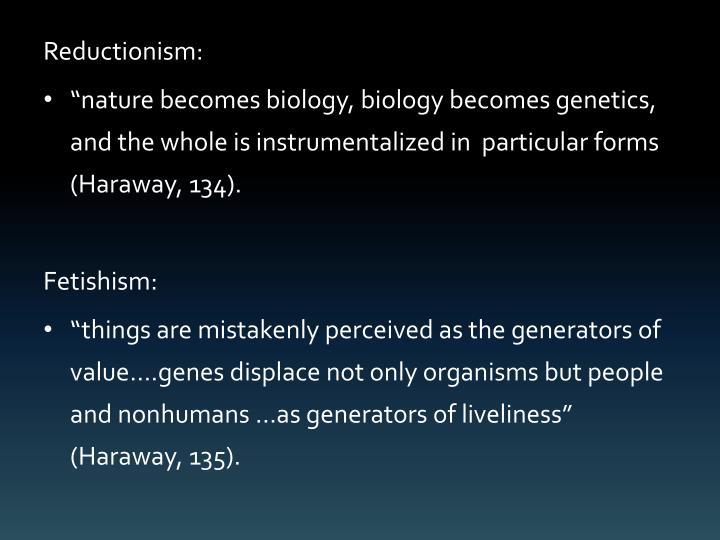 Reductionism: