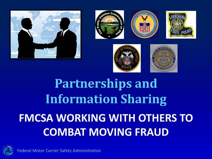 Partnerships and Information Sharing