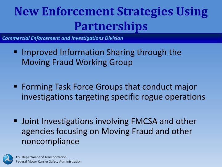 New Enforcement Strategies Using Partnerships