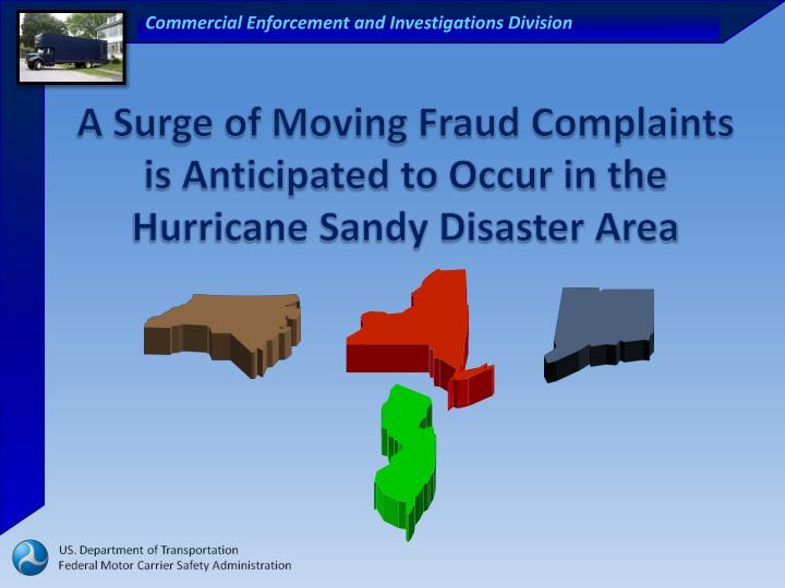 A Surge of Moving Fraud Complaints