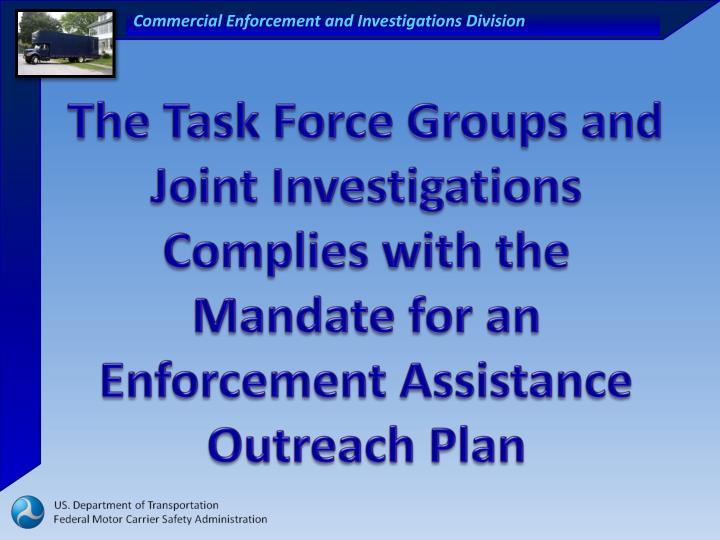 The Task Force Groups and