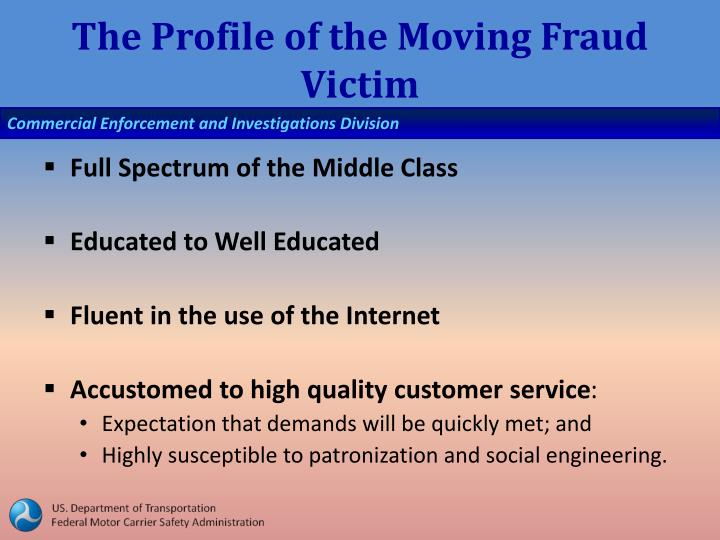 The Profile of the Moving Fraud Victim