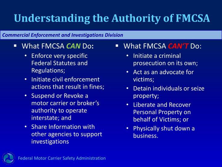 Understanding the Authority of FMCSA