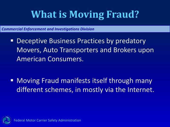 What is Moving Fraud?