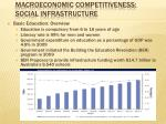 macroeconomic competitiveness social infrastructure