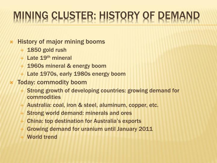 History of major mining booms
