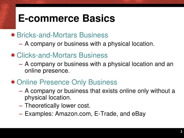 E-commerce Basics