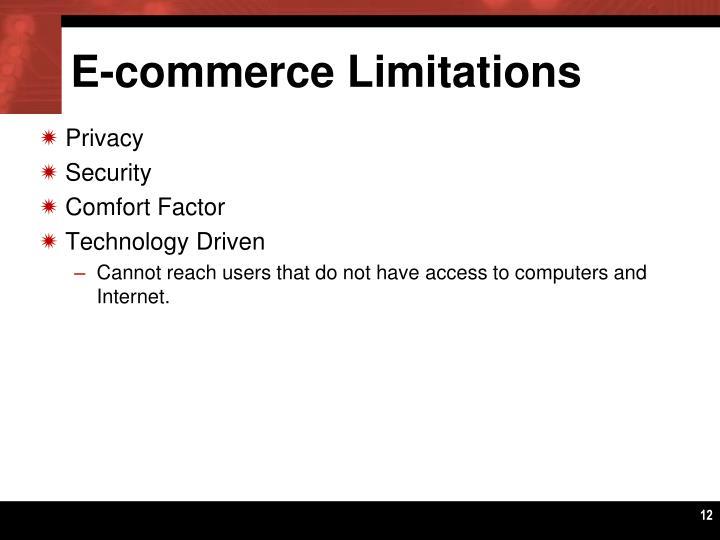 E-commerce Limitations