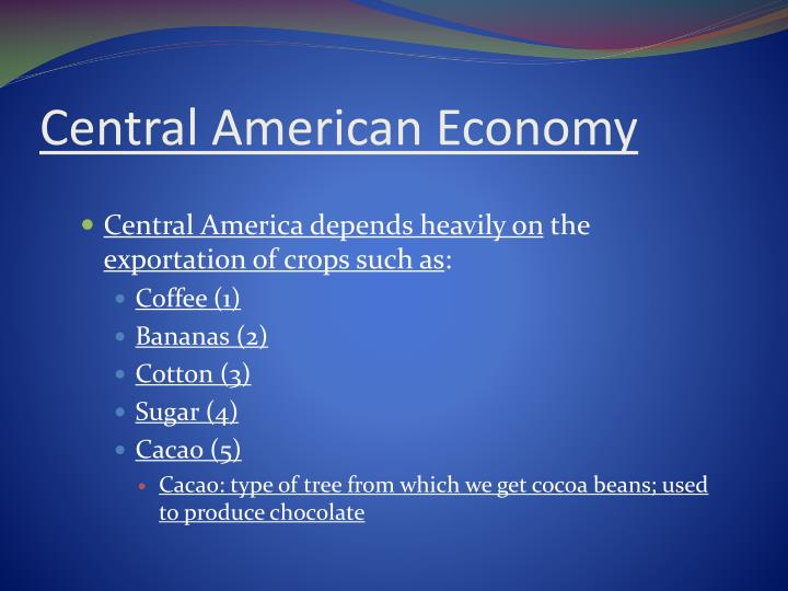 Central American Economy