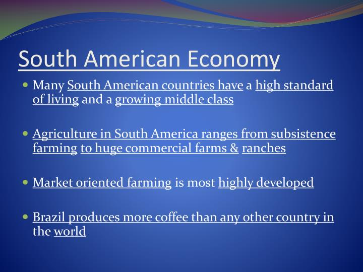 South American Economy