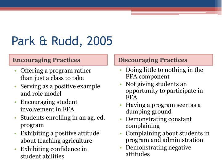 Park & Rudd, 2005