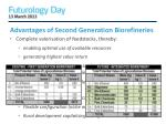 advantages of second generation biorefineries