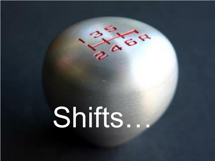 Shifts…