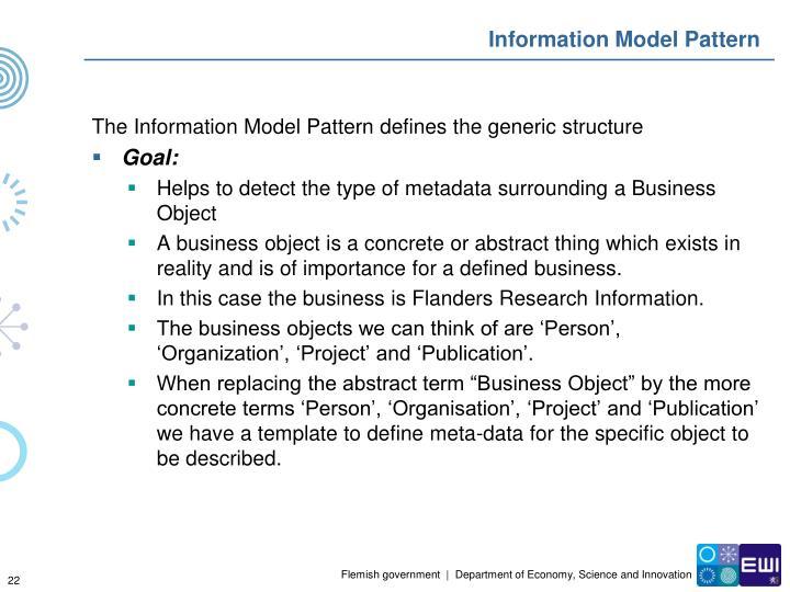 Information Model Pattern