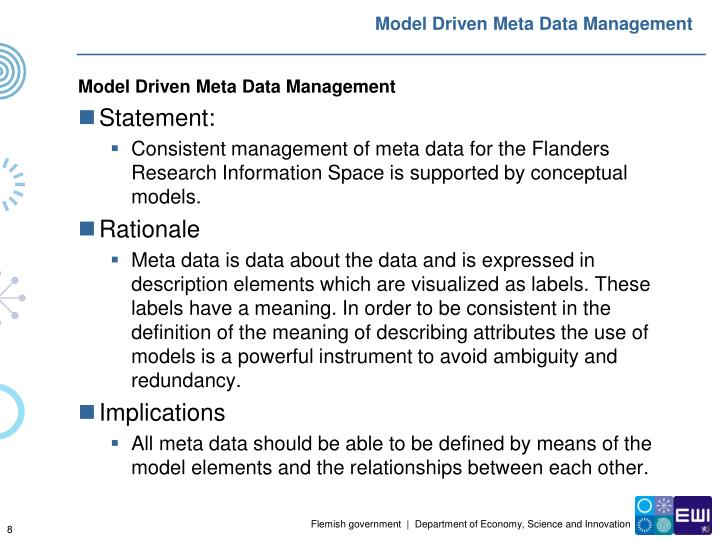 Model Driven Meta Data Management