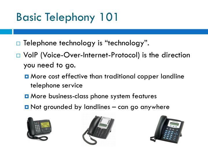 Basic Telephony 101