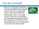 how do we budget