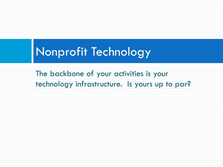 Nonprofit Technology