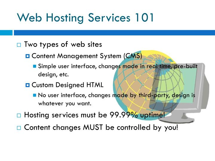 Web Hosting Services 101