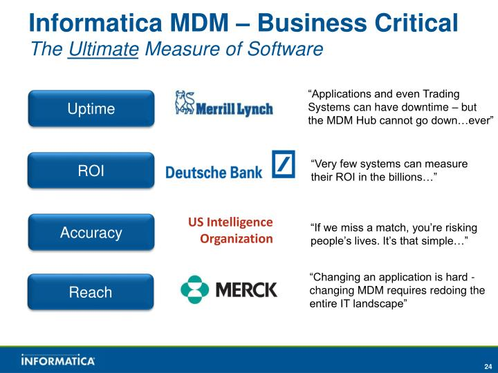 Informatica MDM – Business Critical
