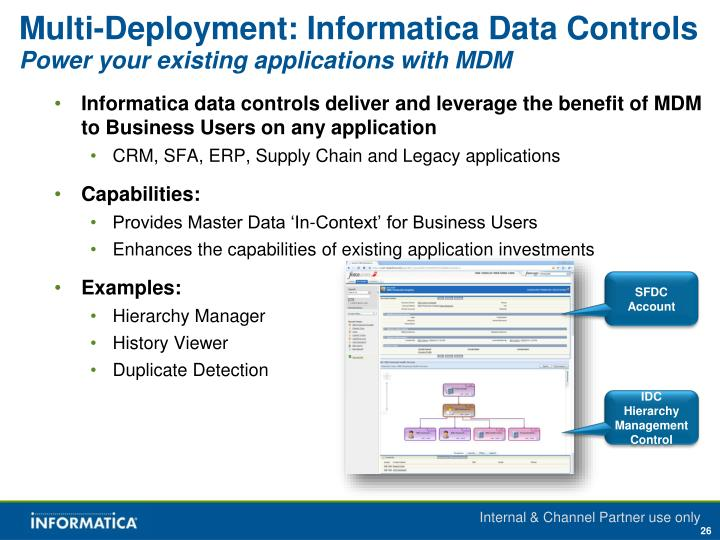 Multi-Deployment: Informatica Data Controls