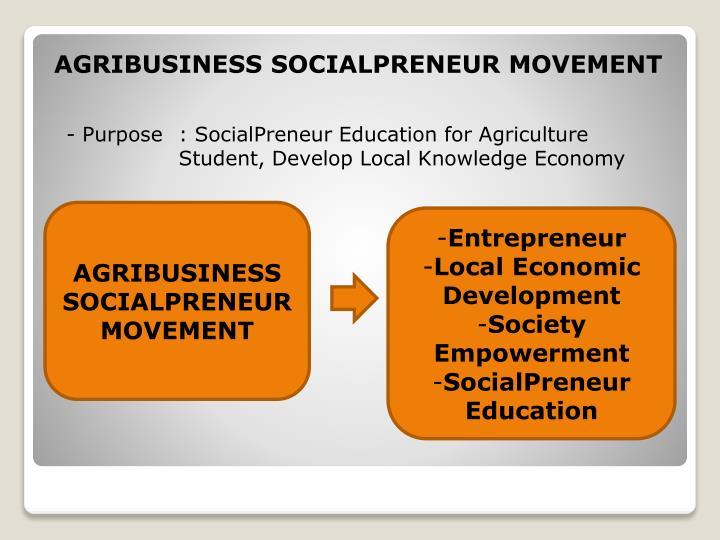 AGRIBUSINESS SOCIALPRENEUR MOVEMENT
