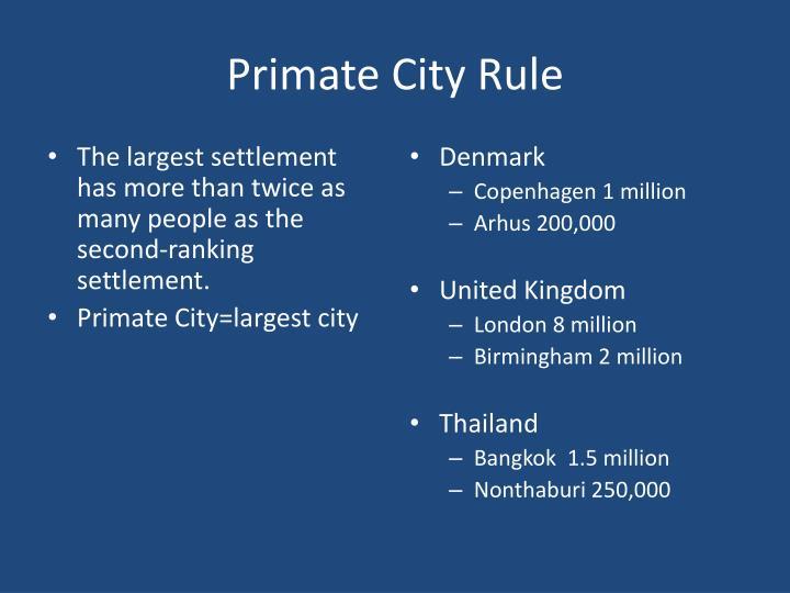 Primate City Rule