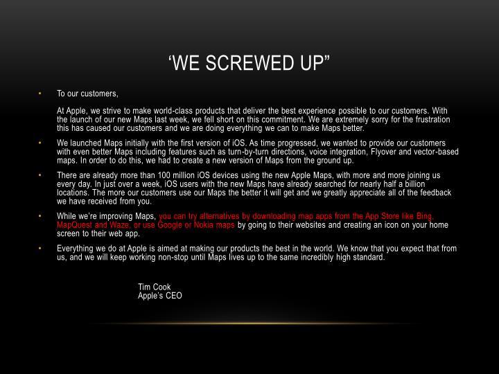 "'we screwed up"""