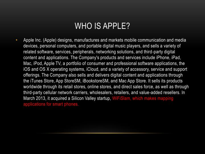 Who is Apple?