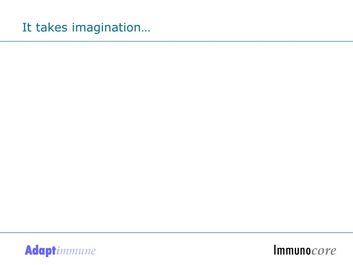 It takes imagination…