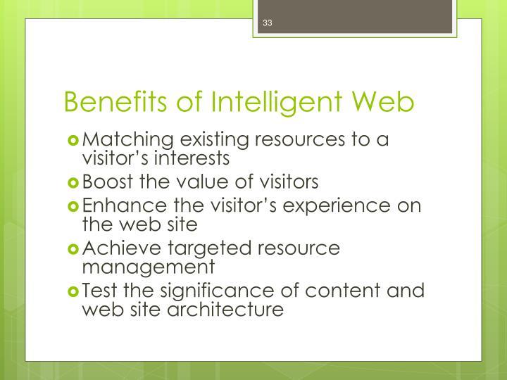 Benefits of Intelligent Web
