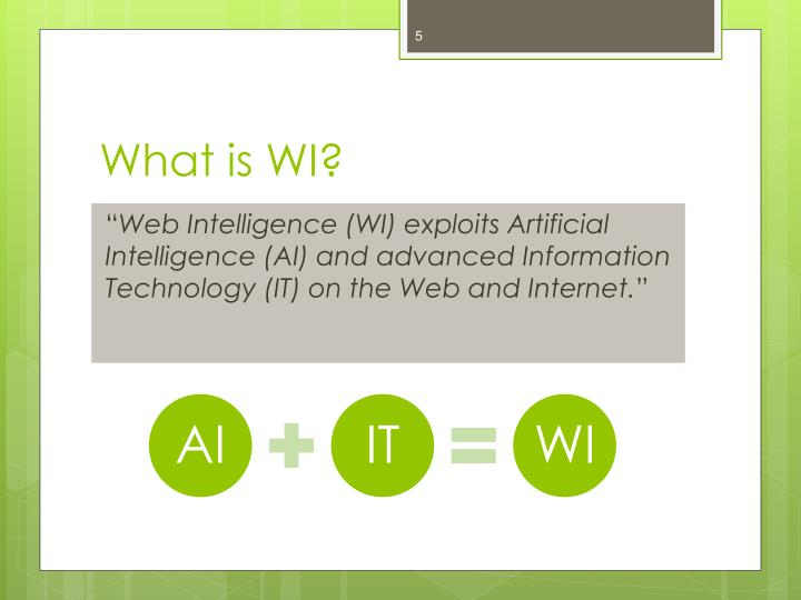 What is WI?