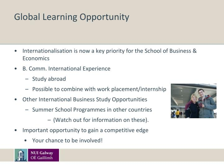 Global Learning Opportunity
