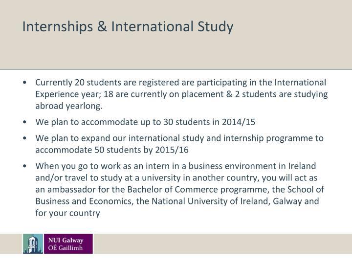 Internships & International Study