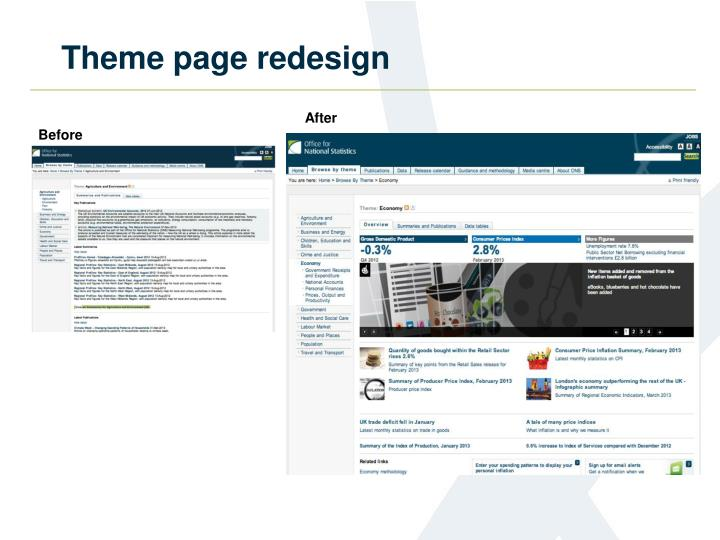 Theme page redesign