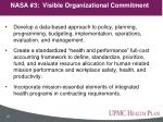 nasa 3 visible organizational commitment
