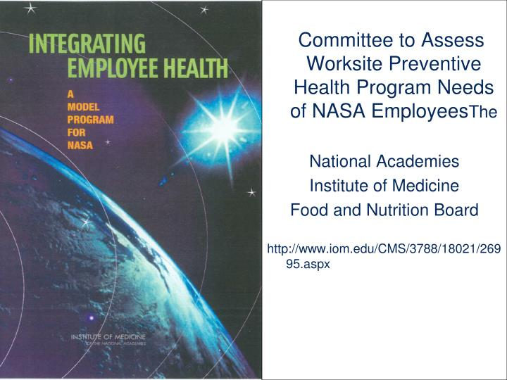 Committee to Assess Worksite Preventive Health Program Needs of NASA Employees