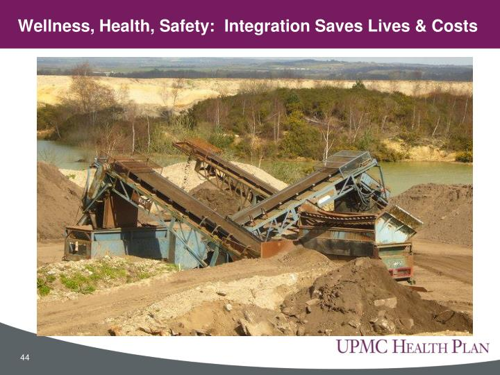 Wellness, Health, Safety:  Integration Saves Lives & Costs