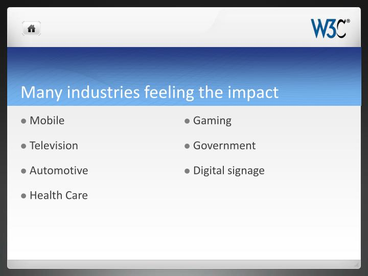 Many industries feeling the impact