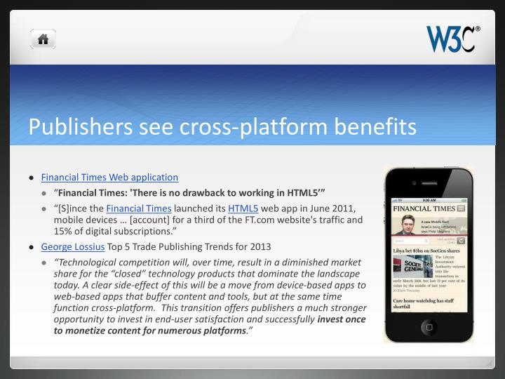 Publishers see cross-platform benefits