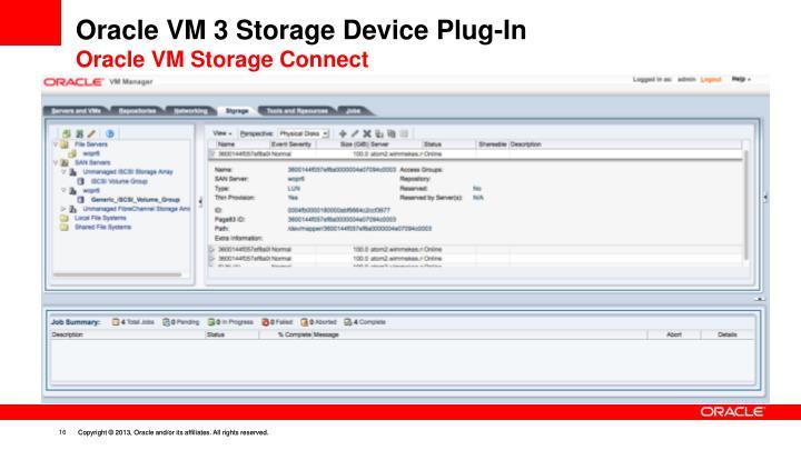 Oracle VM 3 Storage Device Plug-In