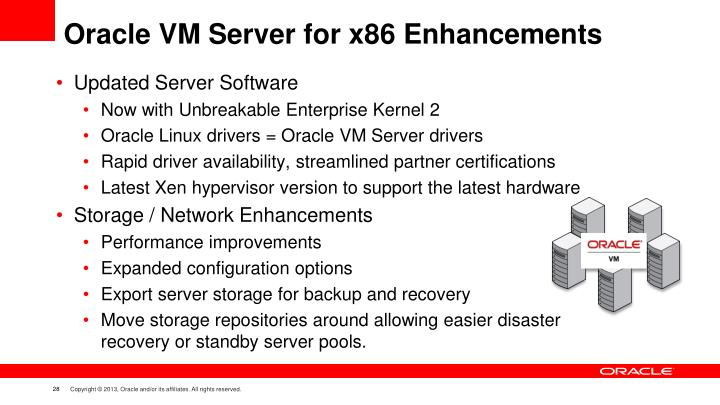 Oracle VM Server for x86 Enhancements