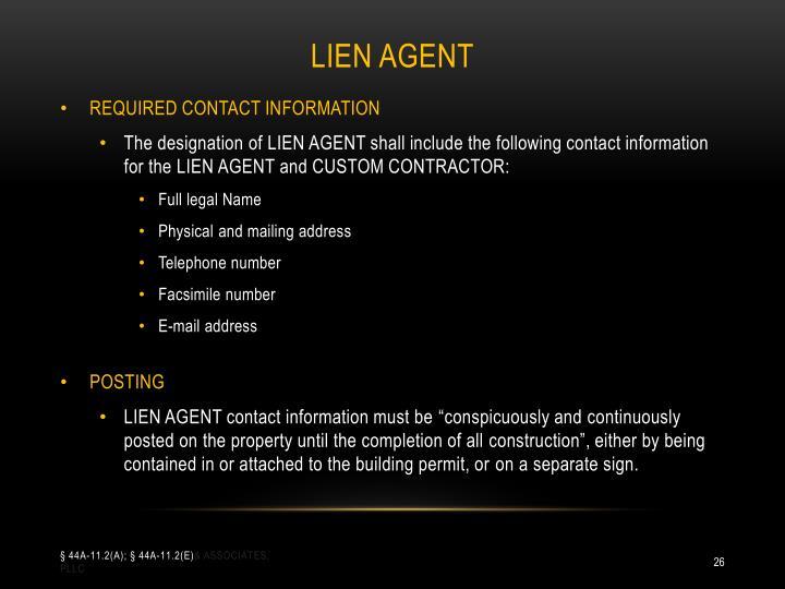 Lien agent