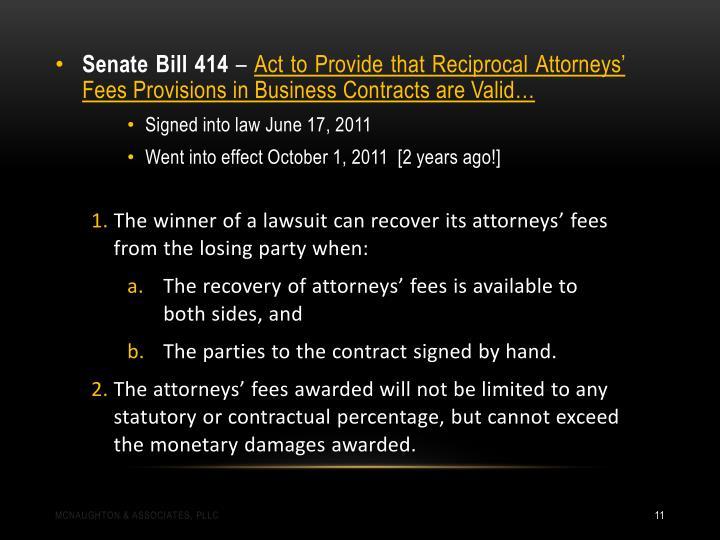 Senate Bill 414