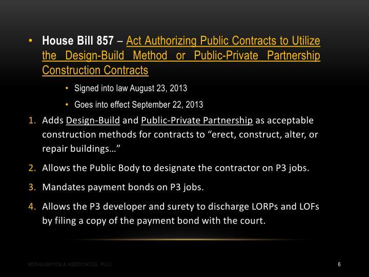 House Bill 857