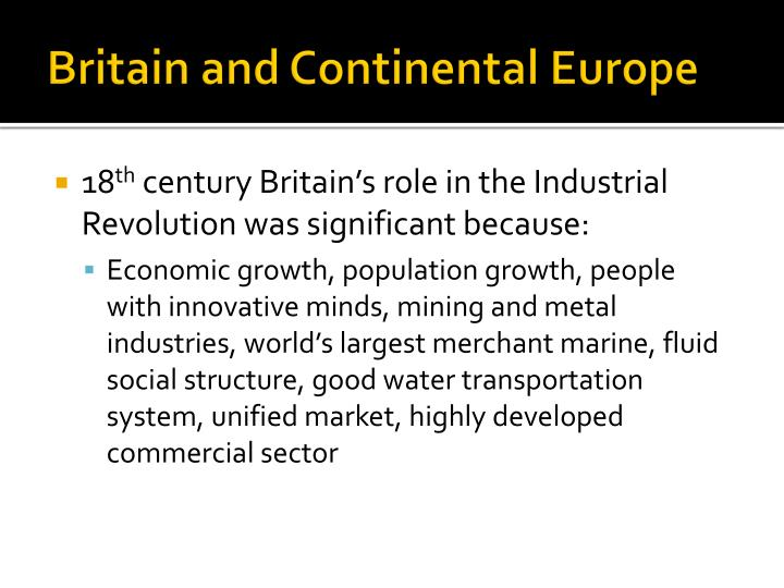 Britain and Continental Europe