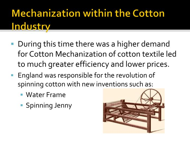 Mechanization within the Cotton Industry