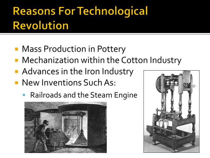 Reasons For Technological Revolution