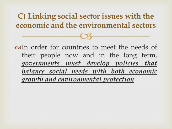 economics of social sector and environment pdf